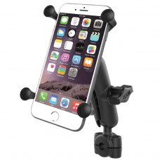 """Torque™ 3/8"""" - 5/8"""" Diameter Mini Rail Base with 1"""" Ball, Standard Arm and X-Grip® for Larger Phones"""